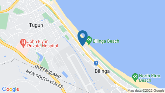 Bilinga Beach Motel Map