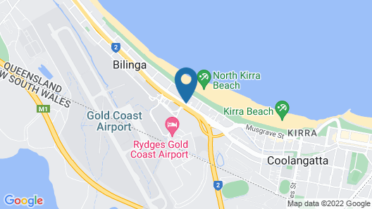 Gold Coast Airport Motel Map