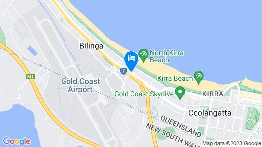 Gold Coast Airport Motel Map