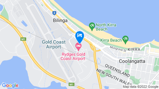 Rydges Gold Coast Airport Map