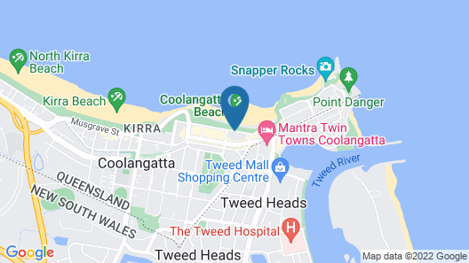Mantra Coolangatta Beach Map