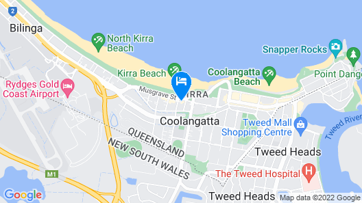 Iconic Kirra Beach Resort Map
