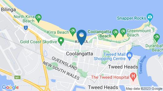 Kirra Palms Holiday Apartments Map