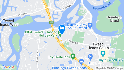 Big4 Tweed Billabong Holiday Park Map