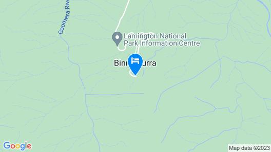 Binna Burra Sky Lodges  Map