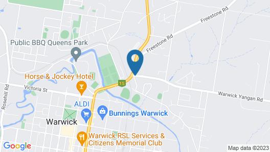 City View Motel Warwick Map