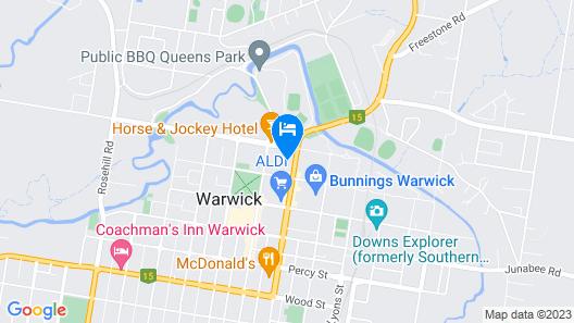 Warwick Motor Inn Map