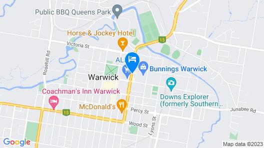 Centre Point Mid City Motor Inn Map