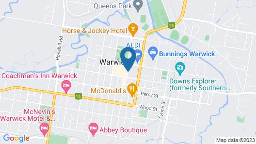 Criterion Hotel Warwick Map