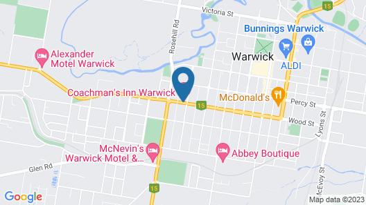 Coachman's Inn Warwick Map