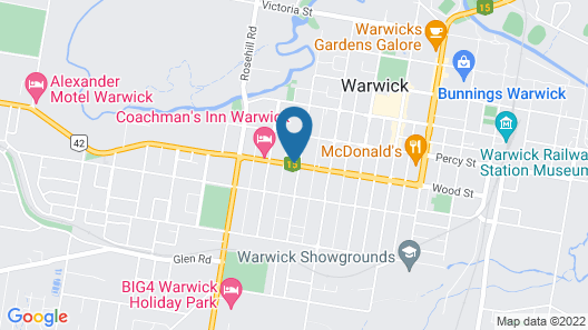 Warwick Vines Motel Map
