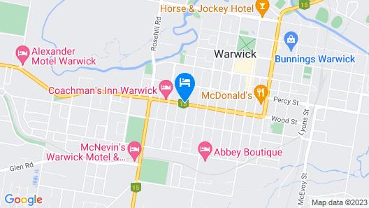 Warwick Vines Motel Map