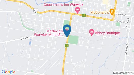 McNevin's Warwick Motel Map