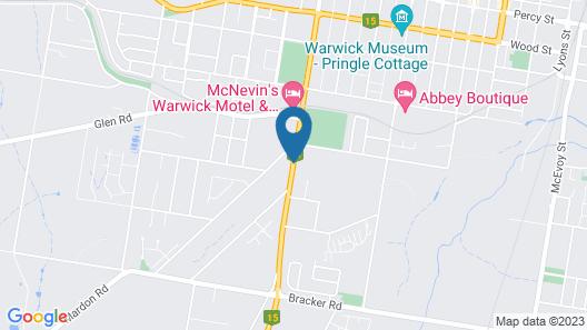 BIG4 Warwick Holiday Park  Map