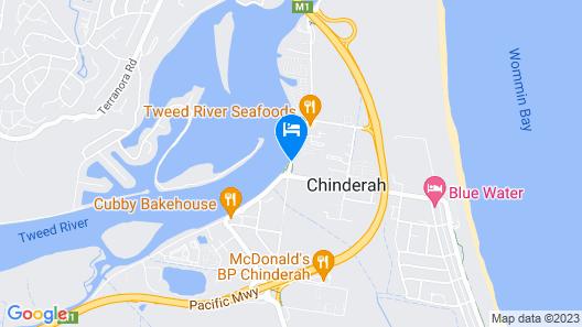 Chinderah Motel Map