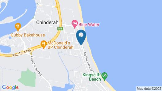 Oceania on Marine Parade Kingscliff Map