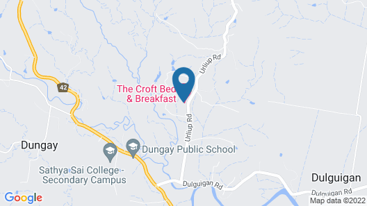 The Croft Bed and Breakfast Map