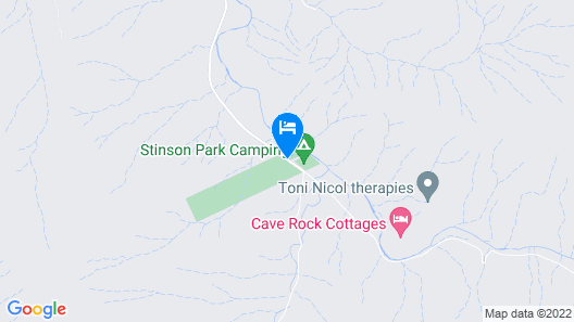 Christmas Creek Cafe & Cabins Map