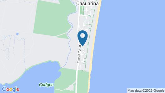 Cotton Beach Resort - Tweed Coast Holidays Map
