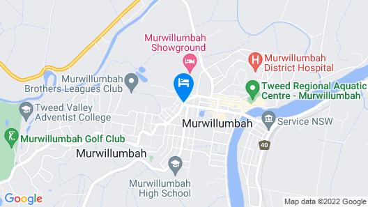 Murwillumbah Motor Inn Map