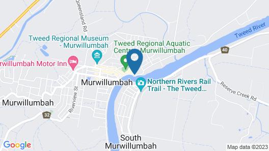 Murwillumbah, Mt. Warning Backpackers YHA - Hostel Map
