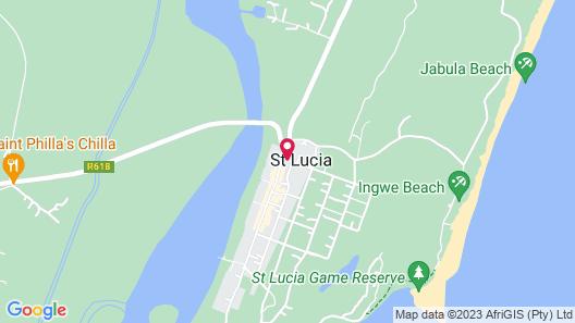St Lucia Palms - Near St Lucia Crocodile Centre Map