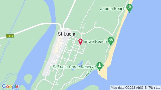 St. Lucia Wetlands Guest House Map