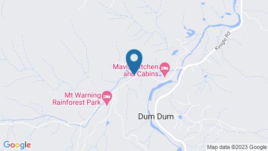 Mt Warning Rainforest Retreat Map