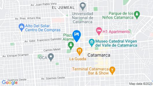 Hotel Casino Catamarca Map