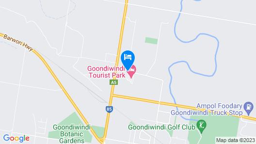 Goondiwindi Top Tourist Park Map