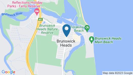 The Sails Motel Brunswick Heads Map