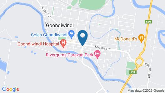 Gunsynd Motor Inn Map