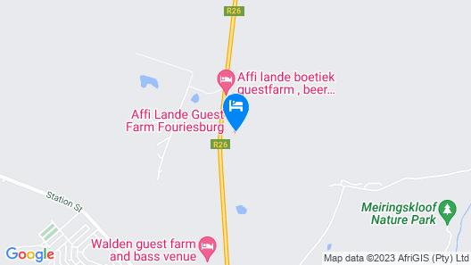 Affi Lande Boetiek Guest Farm Map