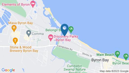 A Beach House At Byron Map