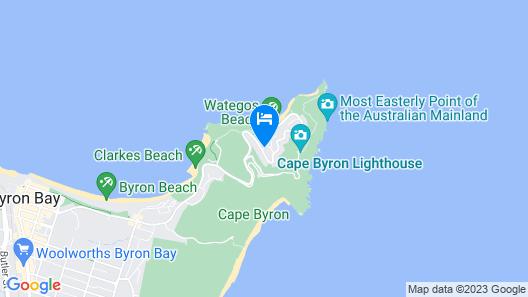 Victoria's at Wategos Map