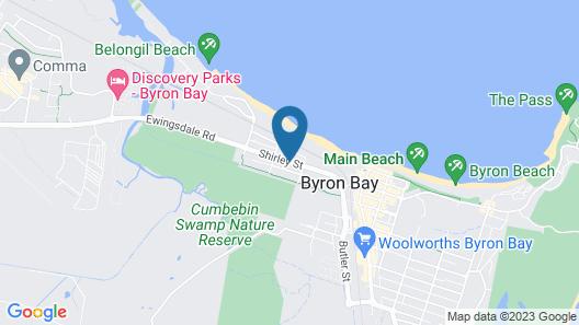 Beaches Apartments Byron Bay Map