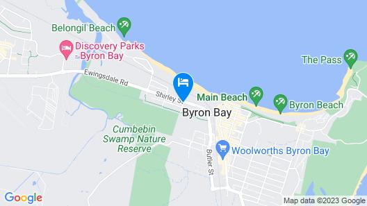 Eco Beach Resort Map
