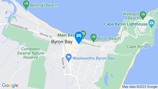 Waves Byron Bay Map