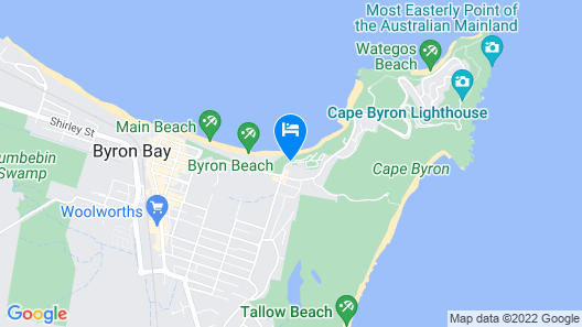 Reflections Holiday Parks Clarkes Beach Map