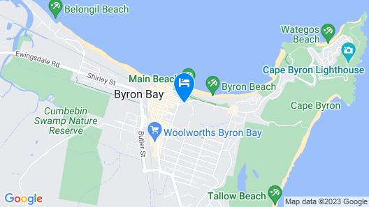 Bay Beach Motel Map