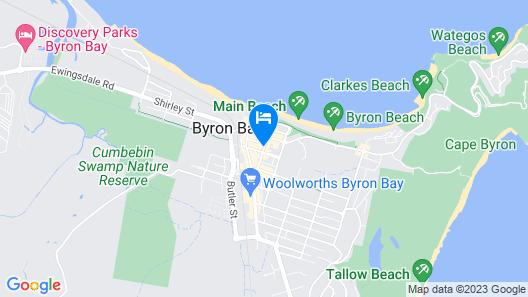Byron Bay Hotel & Apartments Map