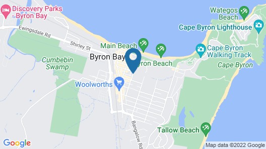 Byron BaySide Central Studio Apartments Map