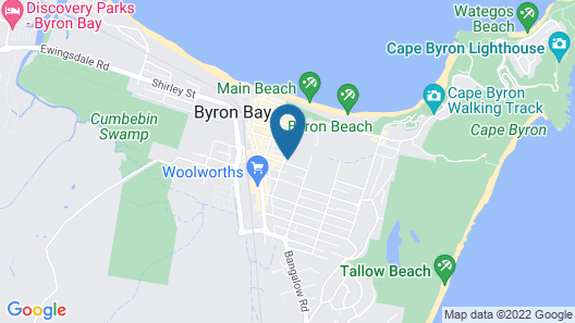 Atlantic Byron Bay Map