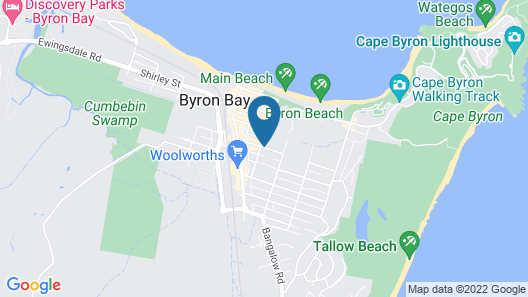 28 Degrees Byron Bay - Adults Only Map