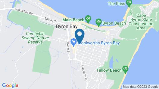 Byron Bay YHA Hostel/Backpackers Map