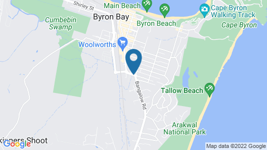 Byron Palms Guesthouse Map