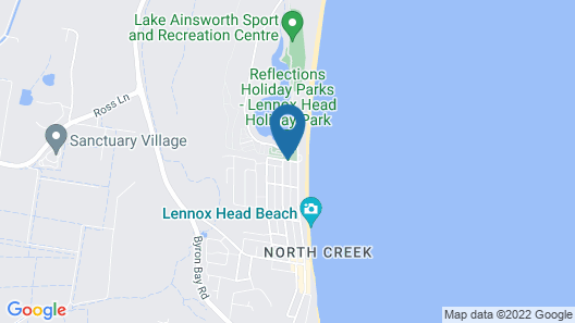 Reflections Holiday Parks Lennox Head Map