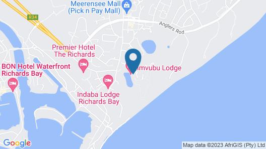 Imvubu Lodge Map