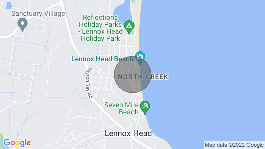 2 bedroom house only 50m to the beach Map