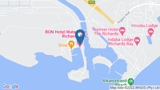 BON Hotel Waterfront Richards Bay Map